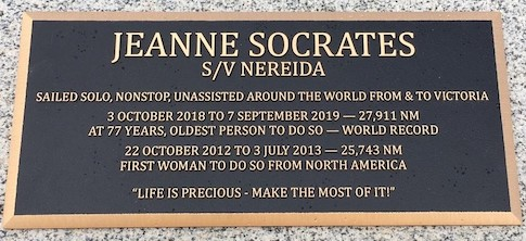 2020   Bronze commemorative plaque, Victoria Harbour wall