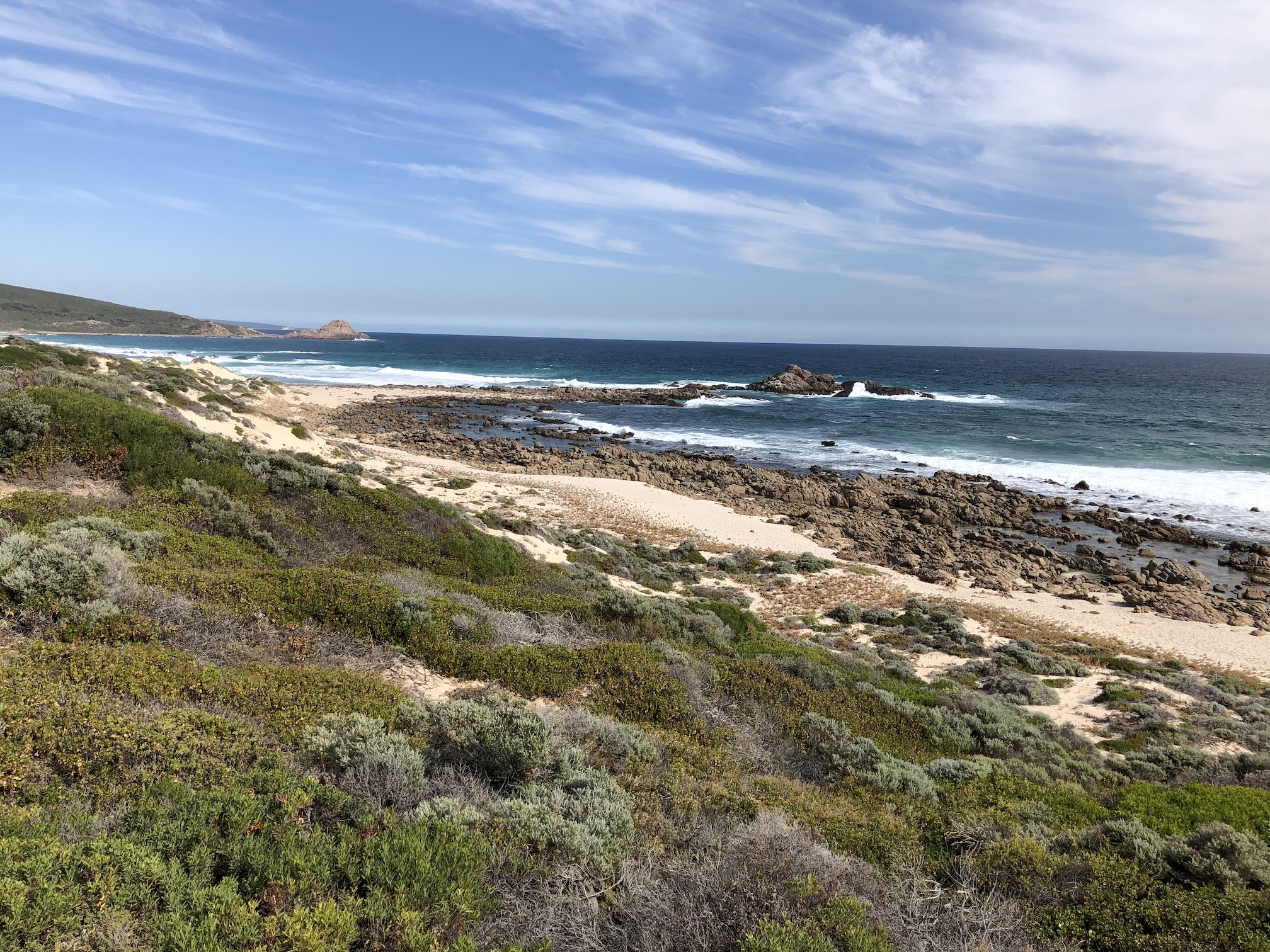 2020-04-17 View S to Sugarloaf Rock from W side of Cape Naturaliste