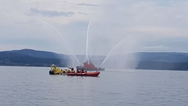 2019 09 07 Fire boat display outside Victoria Hbr breakwater